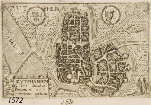 Zutphen plattegrond 1572